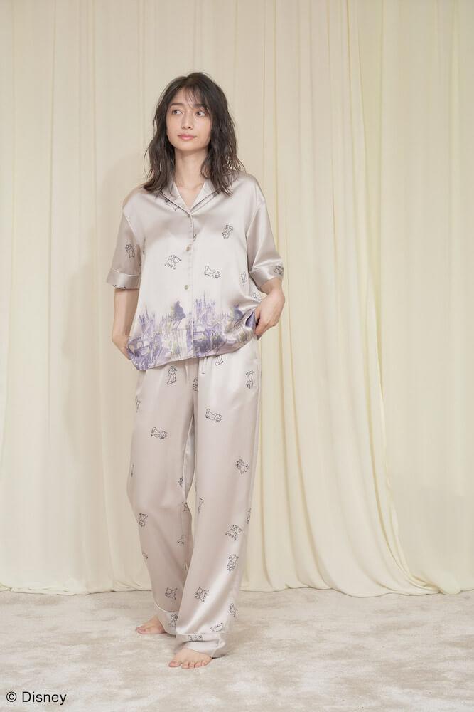 おしゃれキャットマリーの上下パジャマ(ピンクベージュカラー)着用イメージ by SNIDEL HOME