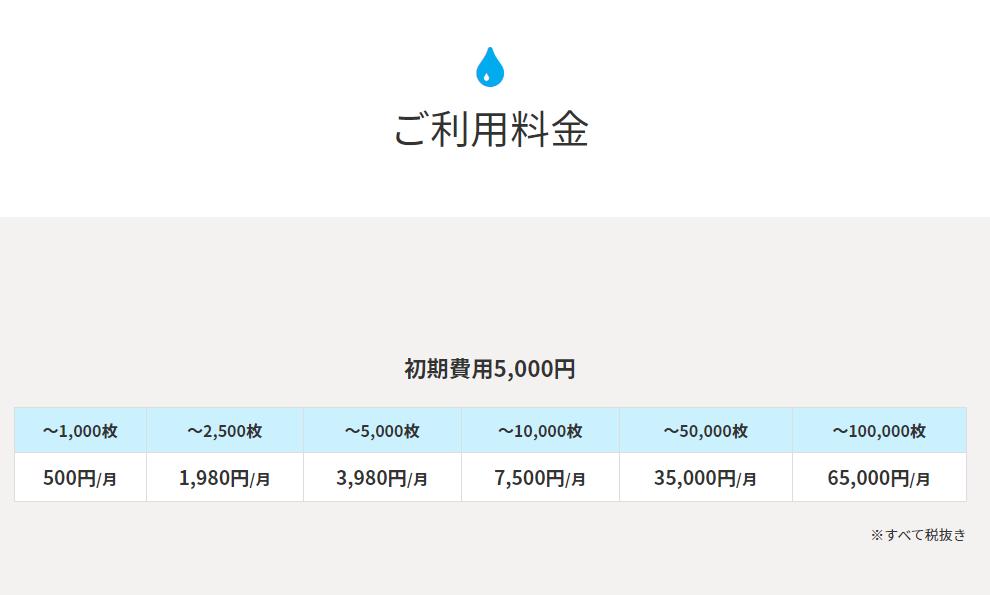写真販売システム「AMATSUBU(あまつぶ)」の料金体系プラン