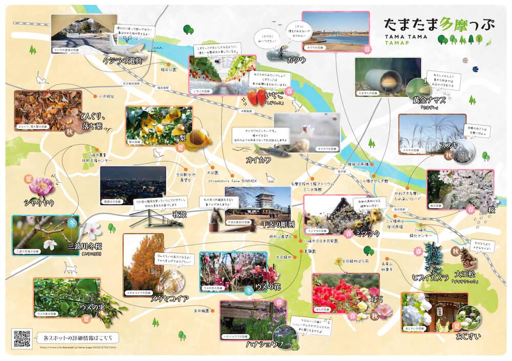 多摩地区の自然スポットを紹介した周遊マップ「たまたま多摩っぷ」