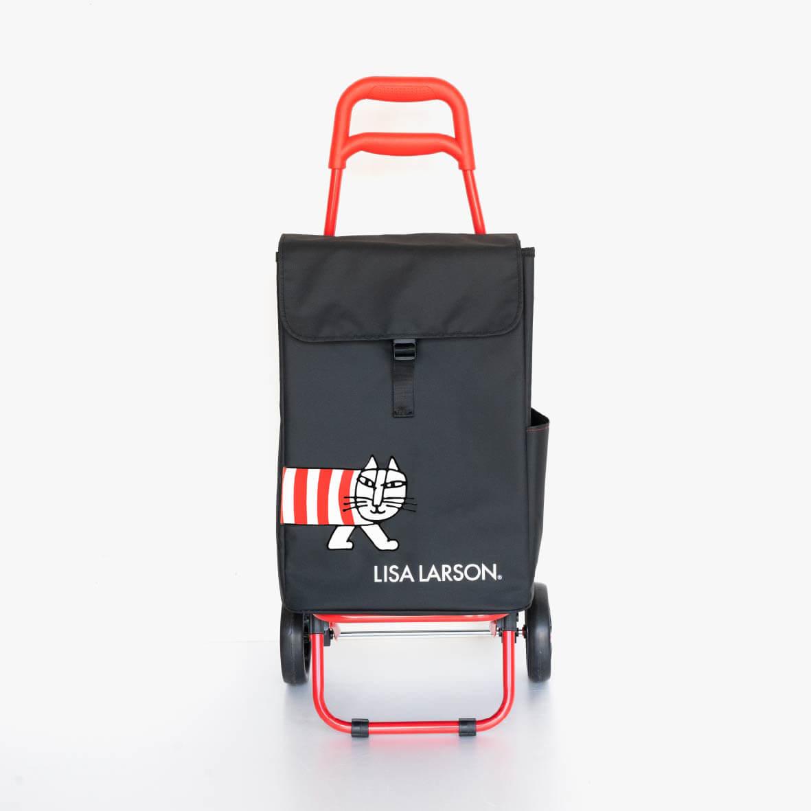 猫のマイキーがデザインされたショッピングカート(ショッピングキャリー)正面イメージ