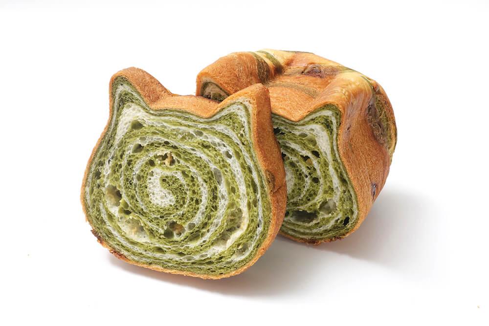 ねこねこ食パン 抹茶フレーバー 商品イメージ