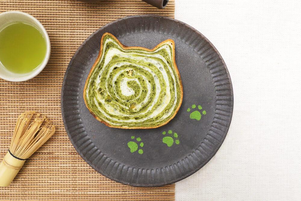 ねこねこ食パン 抹茶フレーバー 盛り付けイメージ