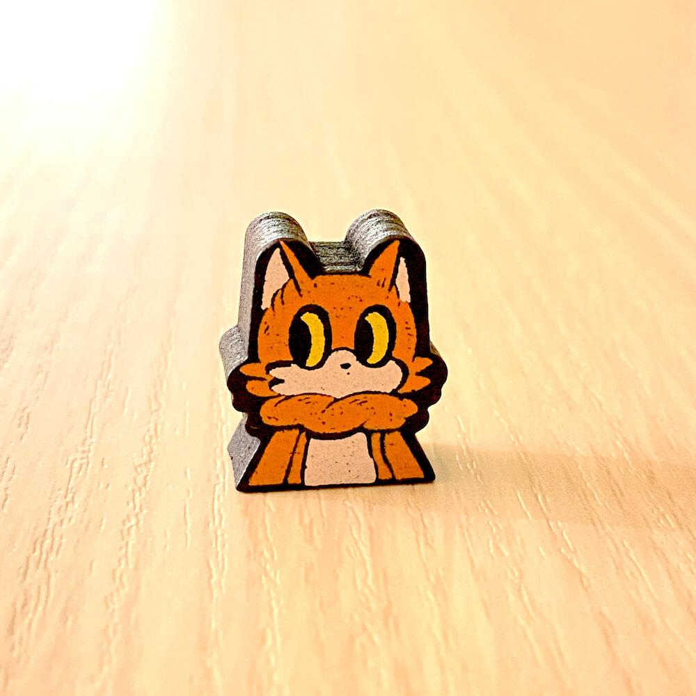 猫語の解読に成功すると獲得できる「ネココマ」 by ボードゲーム「ニャーニャーゲーム」