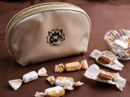 エレガントな猫ポーチも付いてくる!大人な味わいの2層キャラメルをTOKYO CROWN CATが発売