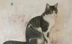 ねこの毛一本一本までリアルに描写、猫を愛する画家・市来功成さんの絵画展が6/16から大阪で開催