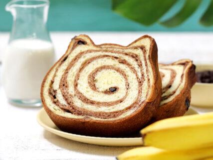 ねこ型の高級食パン専門店「ねこねこ食パン」から、カモフラージュ柄&トロピカルチョコバナナ味が登場