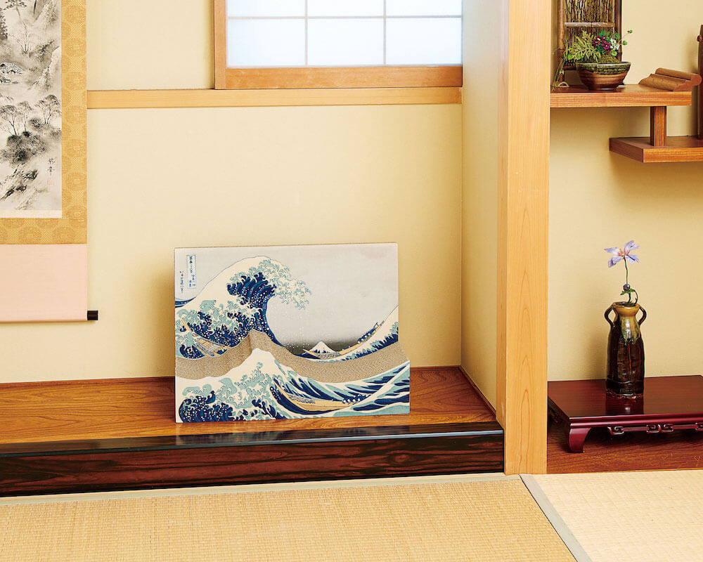 インテリアとしても飾れる葛飾北斎の浮世絵「冨嶽三十六景 神奈川沖浪裏」をモチーフにした猫用爪とぎ