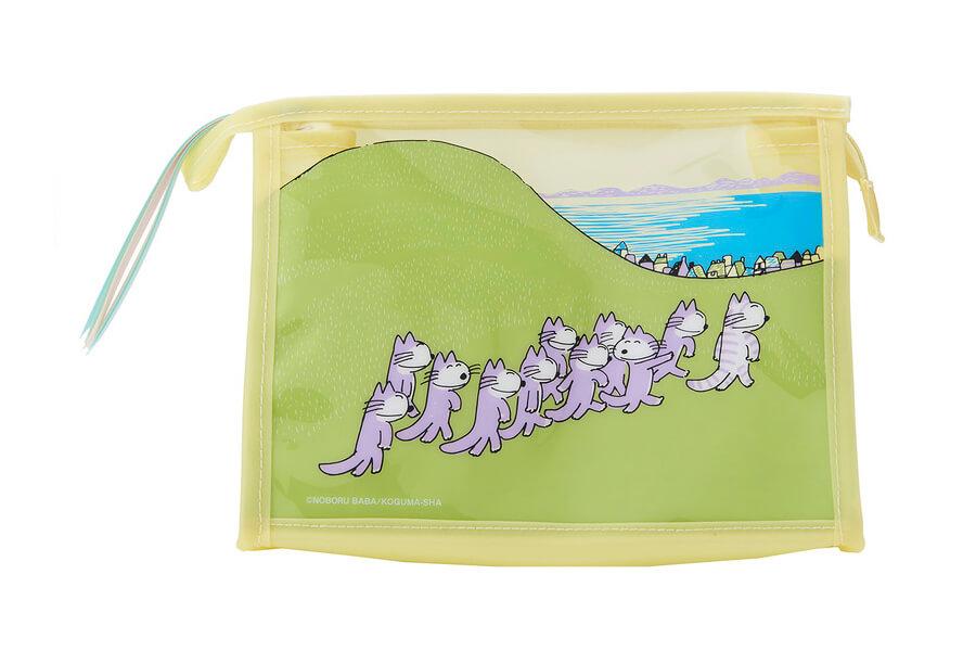 「11ぴきのねこ」のイラストがデザインされたポーチ(商品イメージ)