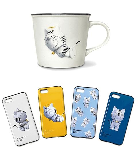 猫キャラ「トラのもん」のマグカップ&iPhoneケース