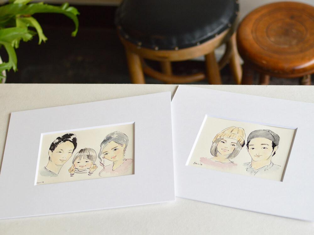 イラストレーターの「ハラダエリコ」氏が描いた夫婦のオリジナイラスト