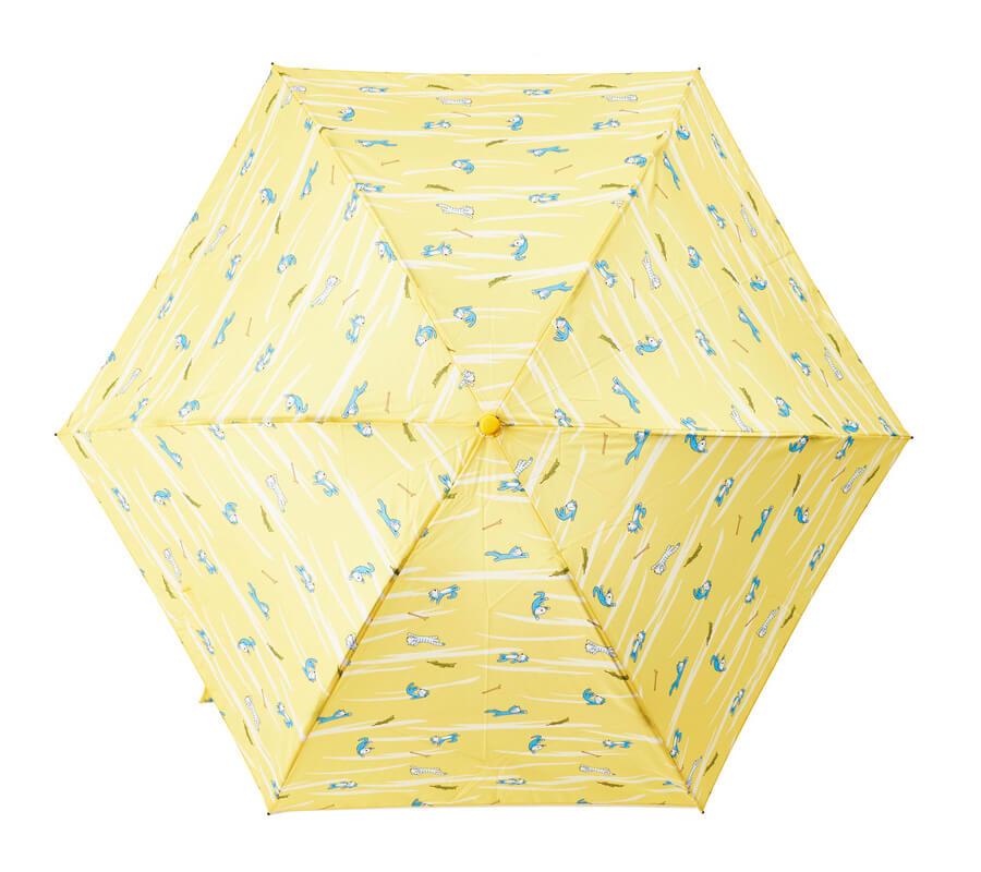 「11ぴきのねこ」の折り畳み傘(雨傘)真上から見たイメージ