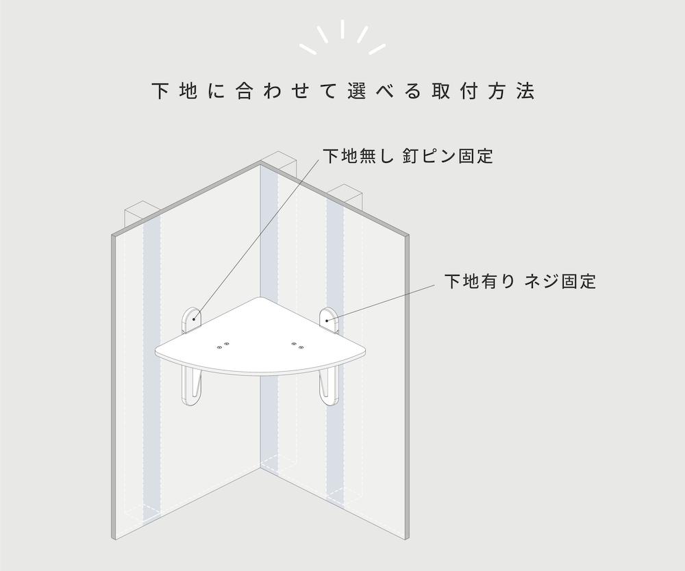 壁に下地がなくても取り付けられる透明なキャットステップ「キャットステップコーナー」