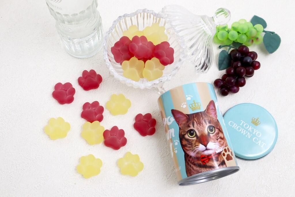 猫の肉球をモチーフにしたフルーツグミ「にくきゅうグミ」 by TOKYO CROWN CAT