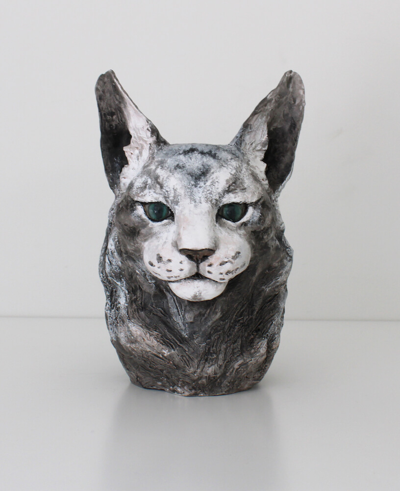 猫の立体作品名「たいようみたい」、作者:川合香鈴