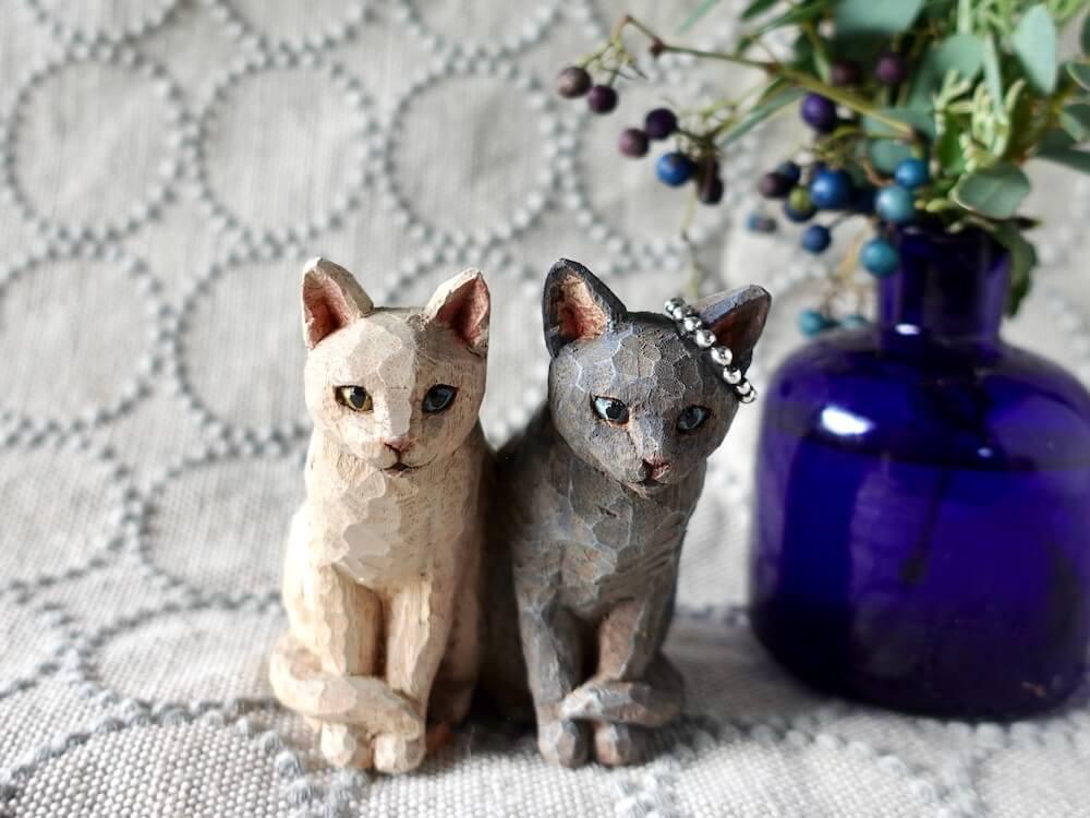 木彫りの猫 by はしもとみお