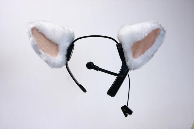 脳波を検知して猫耳が動く&猫の鳴き声がするカチューシャ「necomimi(ネコミミ)」製品イメージ