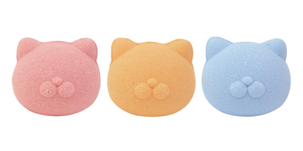 猫にモテるかもしれない入浴剤「NEKOMOTE Bath ball(ネコモテ バスボール)」カラーバリエーション