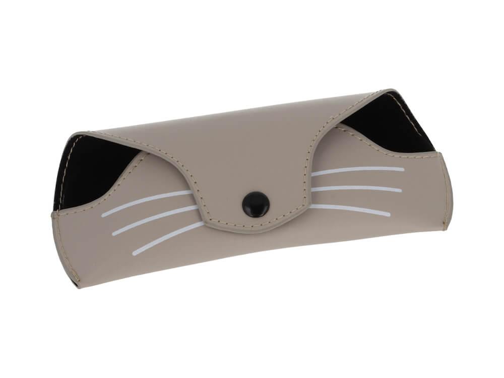 猫モチーフ眼鏡「にゃんブラン」専用の猫型ケース by メガネの愛眼
