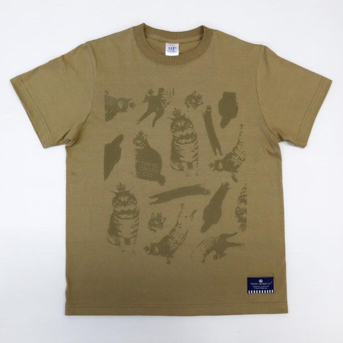 猫の総柄デザインTシャツ by TOKYO CROWN CAT