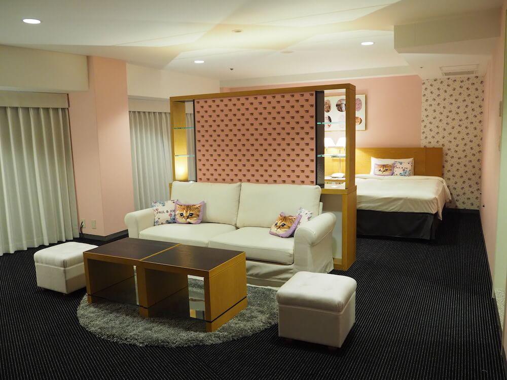 ホテルニューオータニとPAUL & JOEのコラボプラン客室イメージ