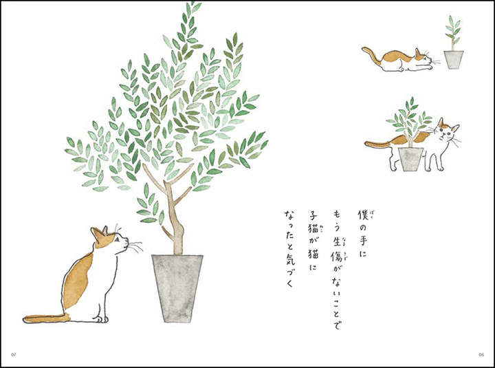 猫の短歌をつづった中面イメージ by これから猫を飼う人に伝えたい11のこと