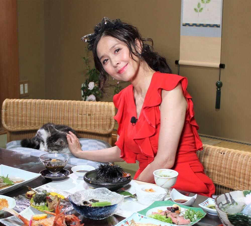 番組で「猫神様」役を演じるのは女優の杉本彩さん