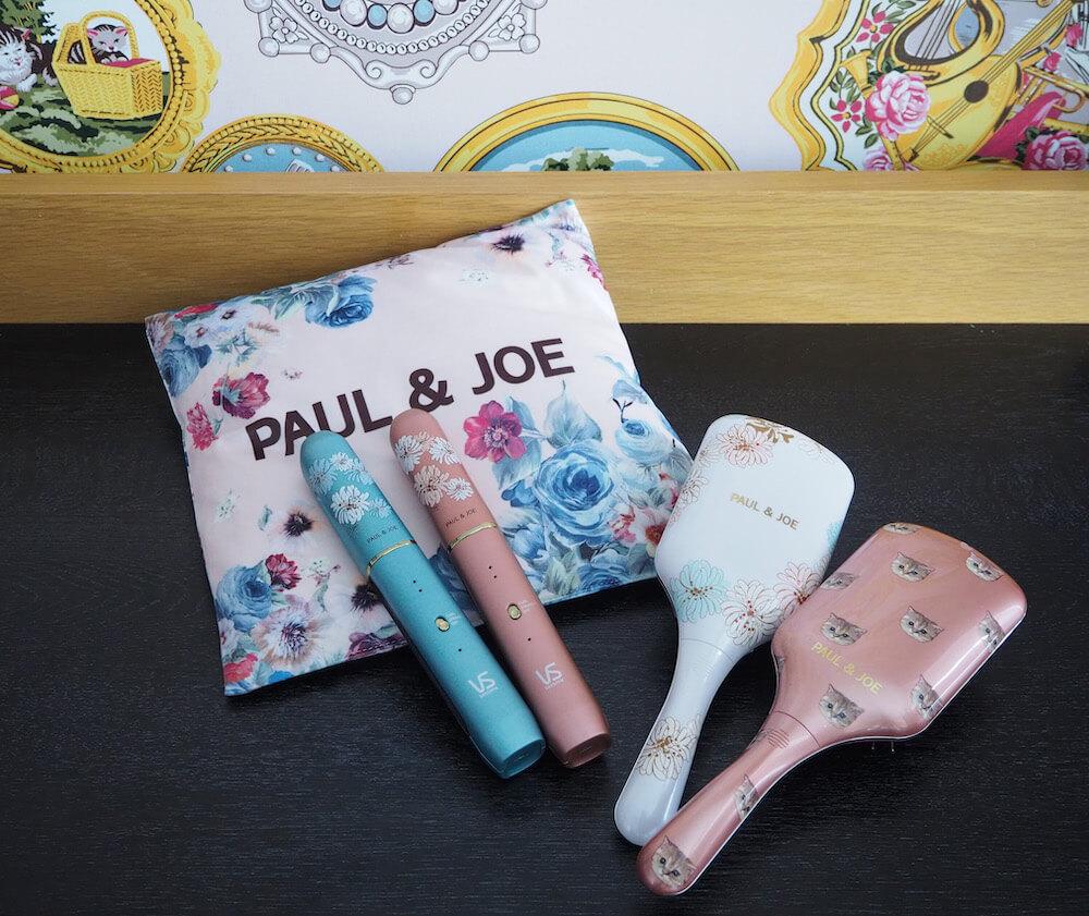 猫柄と花柄のヘアアイロン&リセットブラシ by PAUL & JOE