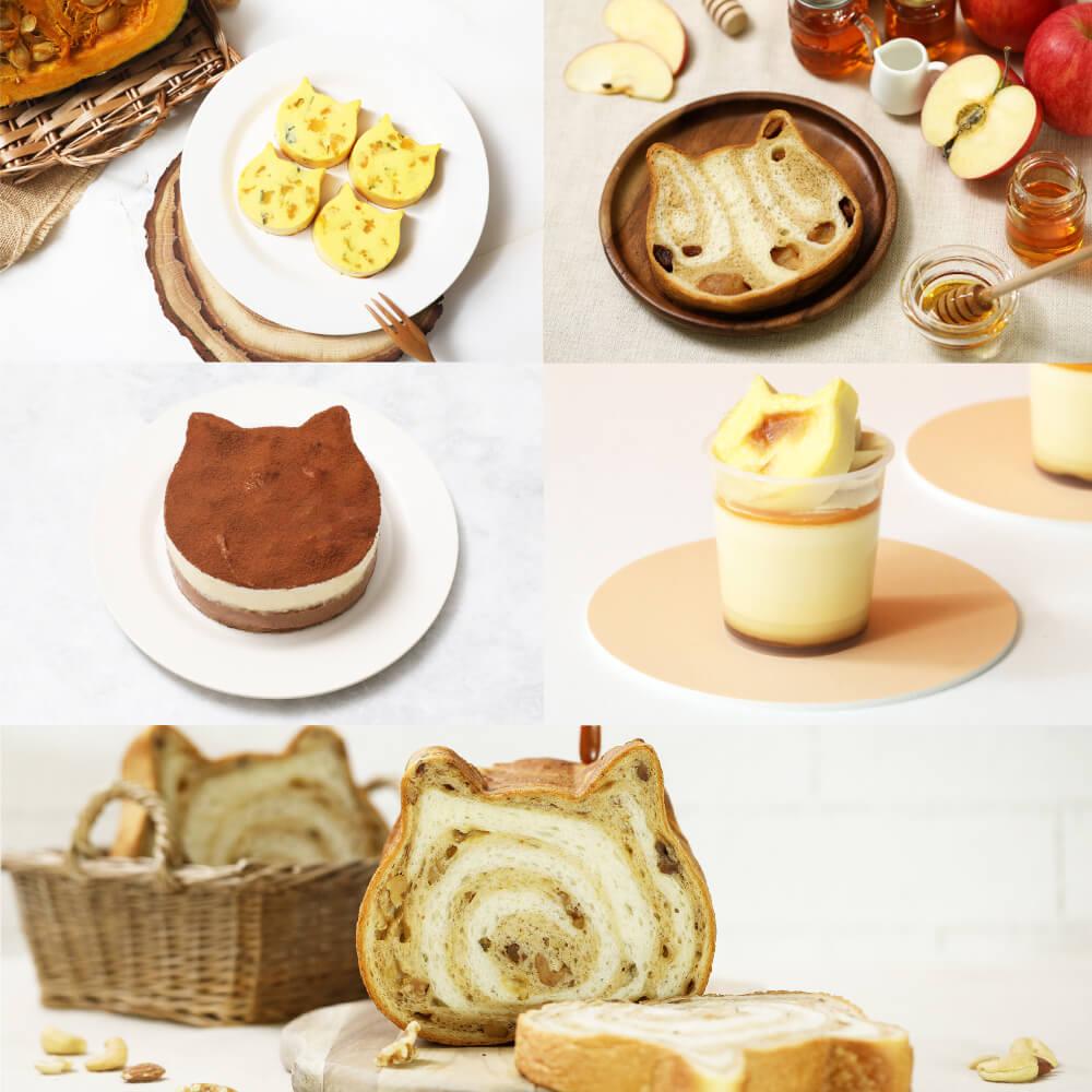 ねこねこ食パン&ねこねこチーズケーキ秋の新商品&限定商品イメージ