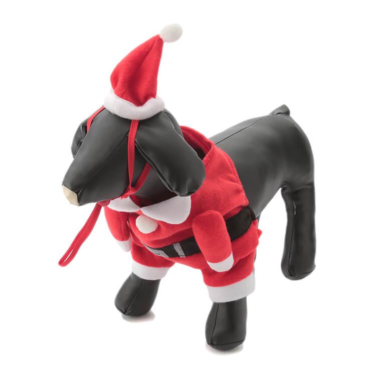 ペットコスチューム サンタの着用イメージ