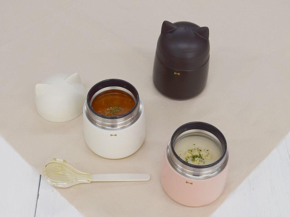 猫型スープポットにミネストローネを入れた様子 by サブヒロモリ(Sabu)