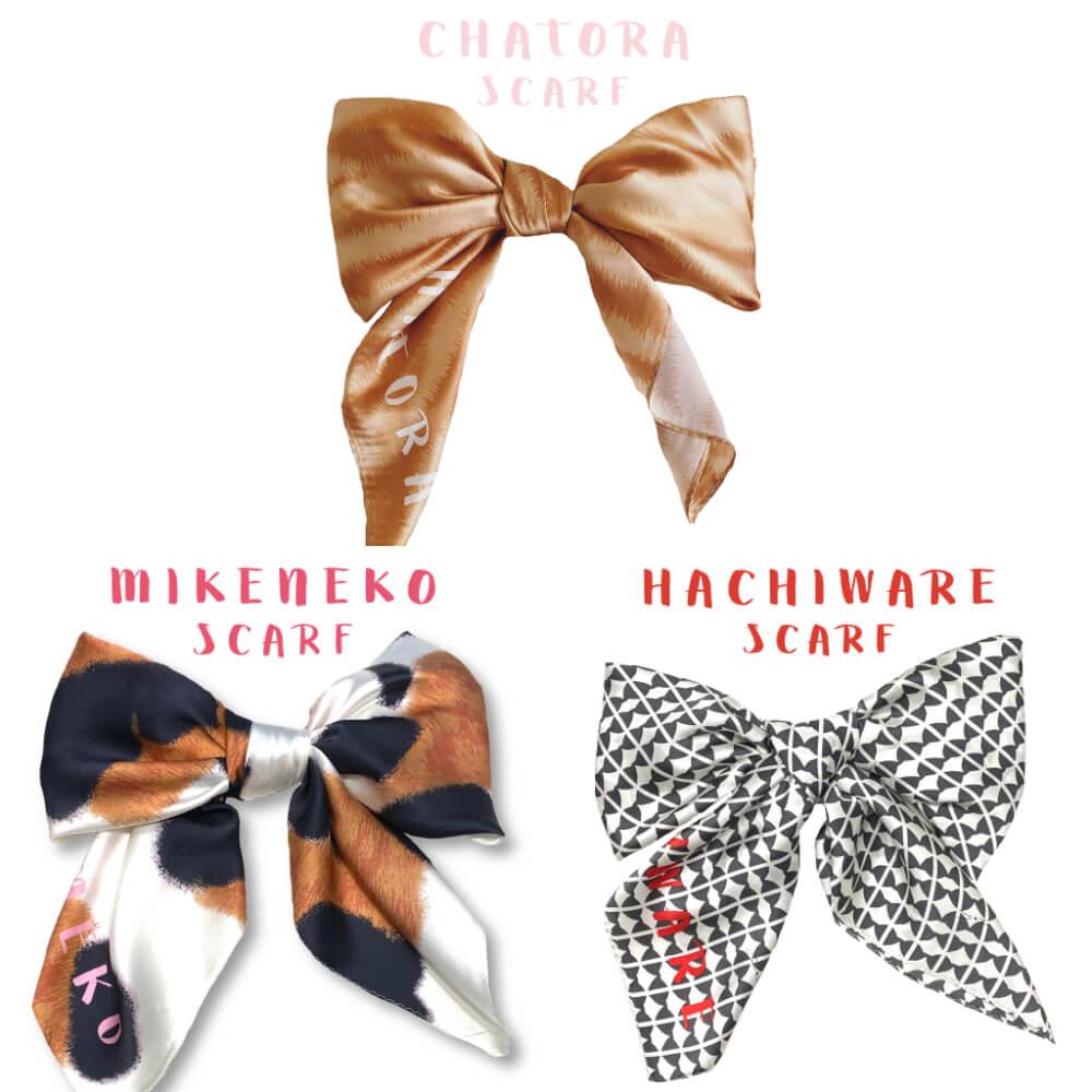 NyanConのねこ柄スカーフ全3種類