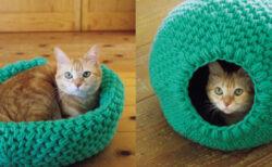 あったか猫ハウスを手編みで作れる!「NHKすてきにハンドメイドセレクション」全40デザインを収録