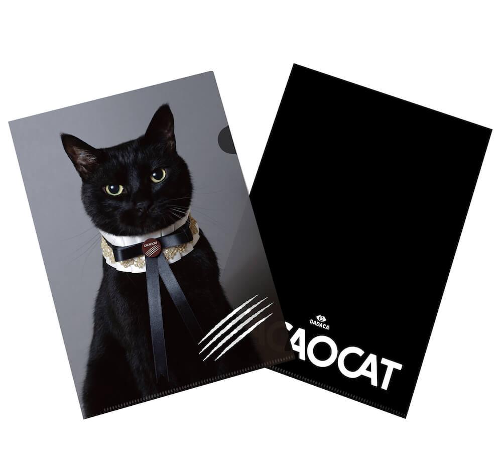 木野聡子がデザインした黒猫のクリアファイル
