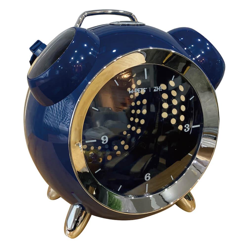 目覚まし時計型のペット用リュックキャリー「カプセルペット」ブルーカラー