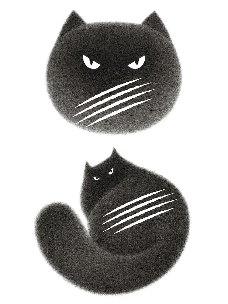 Kamwei Fong(カムウェイ・フォン)がデザインしたCACAOCAT(カカオキャット)の黒猫アートワーク